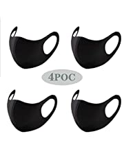4PCAnti-stof Mond Face_mask_Protect Cover Bandana Balaclavas, 2-laags Unisex Herbruikbare Mode Wasbare Cover
