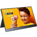 モバイルモニター 15.6インチ 5㎜超薄型 モバイルディスプレイ 1080P IPS液晶モニター 178°全視野 内蔵スピーカ Type-C(2つ)/mini HDMI入力 3.5mmオーディオ端子 730g軽量 100%sRGB広色域 保護カバー付き PS4/XBOX/Switch/PC/Macなど対応 日本語説明書付き PSE認証済み 3年品質保障