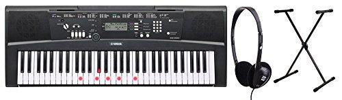 Yamaha EZ-220 Leuchttastenkeyboard Set inkl. Keyboardständer und Kopfhörer