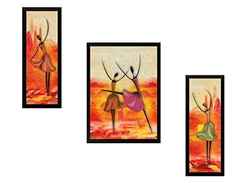 SAF Set of 3 Modern Art Digital Reprint 22 inch x 14 inch Painting (6514) SANFSM6514