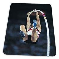 マウスパッド ゲーミングマウスパッド-棒高跳び大会の写真アートプリントの男滑り止め デスクマット 水洗い 25x30cm