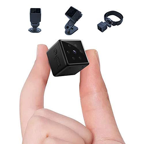 Mini Spy Camera 1080P Hidden Camera, Small Portable Home Nanny Security Surveillance Covert Tiny Camera with Night Vision, Motion Detection, Remote View Hidden Spy Cam
