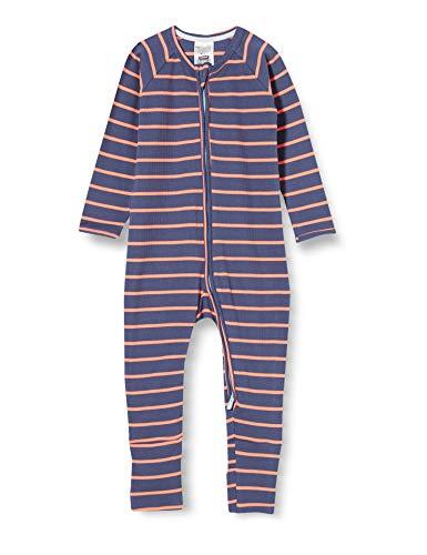 Dim Unisex Baby 0a0i Schlafanzughose für Babys und Kleinkinder, Rayé Gris/Orangé, 18M