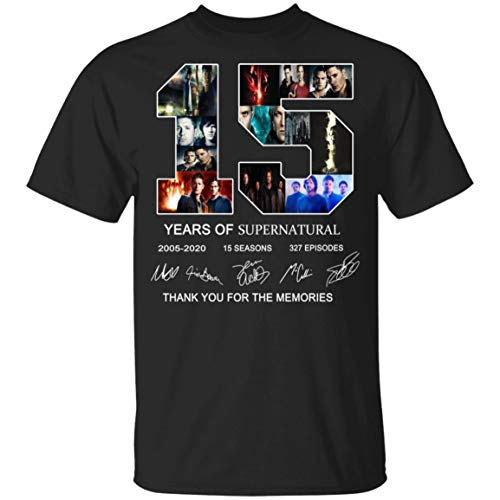 15 Years of Supernatural Signature Youth Kids T-Shirt