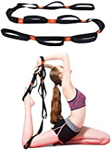 5BILLION Yoga Stretching Strap Cotton Exercise Band with Multiple Grip Loops for Hot Yoga, Physical Therapy, Greater Flexibility & Fitness Workout, 1.6