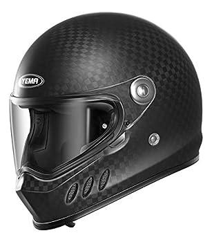 Motorcycle Full Face Carbon Fiber Helmet DOT and ECE Approved - YEMA YM-836 Motorbike Moped Street Bike Racing Crash Helmet with Pinlock Visor for Adult Men and Women