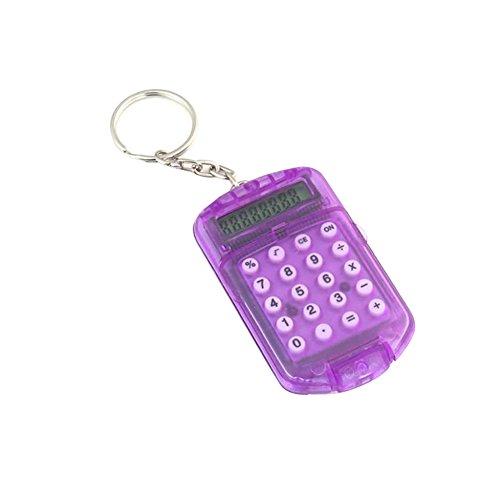 zhouba Mini Pocket Elektronische Taschenrechner 8Ziffern Schlüsselanhänger Ring Schule Büro Werkzeug Zufällige Farbauswahl