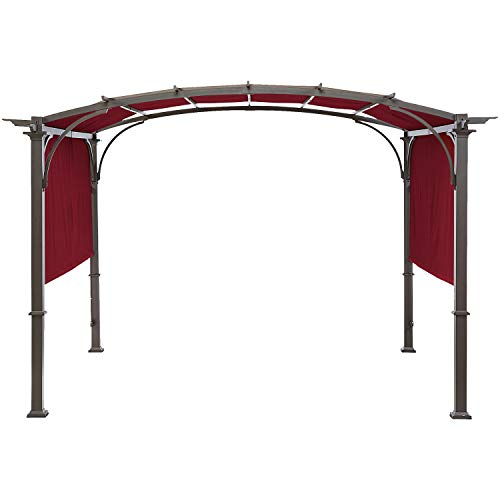 MASTERCANOPY Universal Doubleton Steel Pergola Replacement Cover for Pergola Structures L-PG080PST, 80''x 205'', Burgundy (Cover only)