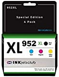 InkjetsClub Compatible Ink Cartridge Replacement for HP 952XL Black & 952...