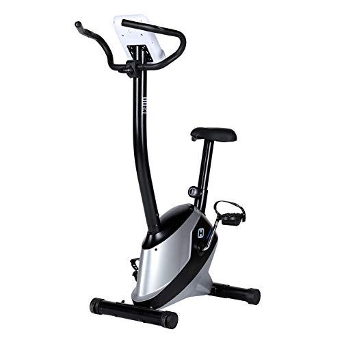 BT BODYTONE - DU21 - Bicicleta Estática para Tus sesiones Fitness en casa - Pantalla Led con Soporte Tablet y pulsómetro - Peso Máximo Usuario 110 KG.