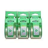 BOMEI Pack de 6 rollos de cinta de embalaje silencioso, con dispensador, pequeños rollos de 1,88 x 800 cm, 1,5 pulgadas
