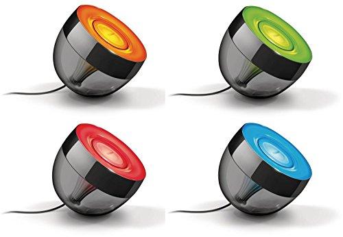 Philips Living Colors Iris, Energiesparende LED-Technologie mit 10 Watt,16 Millionen Farben, mit Fernbedienung, schwarz 7099930PH - 4