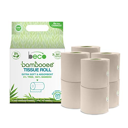 Beco Bambooee Tissue Roll (3 Ply) - 220 Pulls - Pack of...