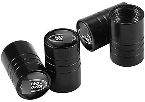 4 Piezas Tapas para válvulas de neumáticos,Válvula de Neumáticos Tapones de válvula Para La-nd Ro-ver Ran-ge Ro-ver Freelander Evoque Defender SV SVR Velar,impermeable Auto decoración Accesorios