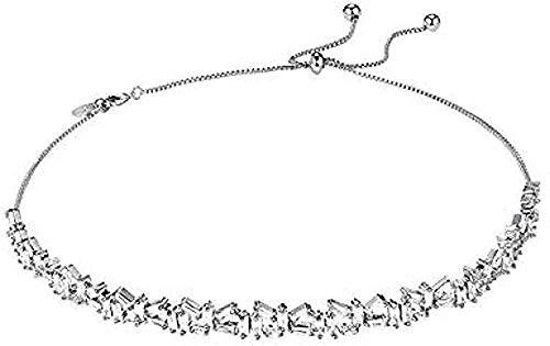 CAISHENY Collar Elegante para Mujer Gargantilla Individual Arco La clavícula Femenina Puede Tirar de Collares Cortos Simples
