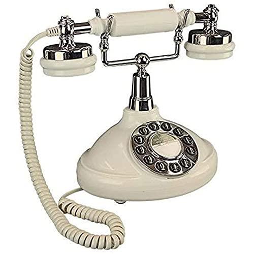 JDJFDKSFH Teléfono Antiguo Europeo, teléfono Retro Teléfonos Teléfonos Teléfonos Clásicos FSK/DTMF Teléfono Fijo con decoración de Sala de Estar, Regalo Maravilloso
