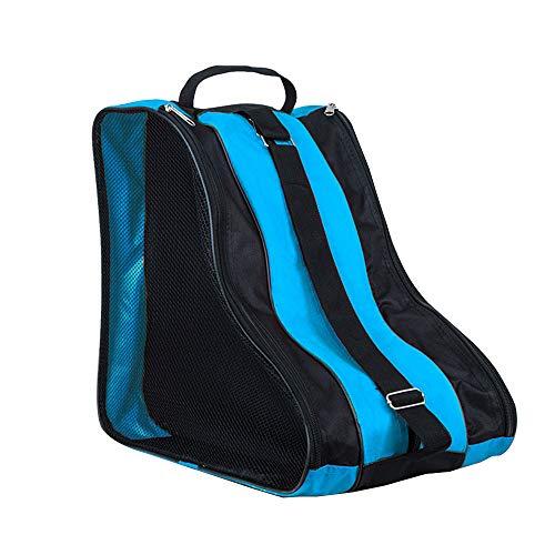SENDILI Bolsa para Patines - Mochila Patines en Linea Patines de Hielo Ice Skate Bag Unisex Adulto Niña Niño Azul