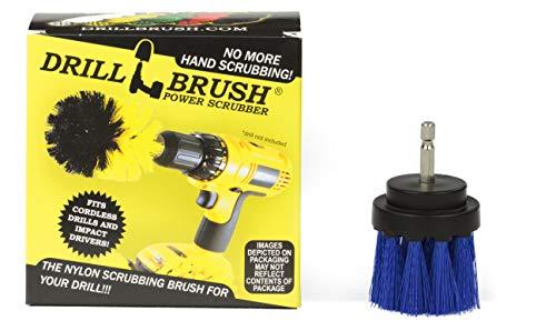 Drillbrush Lungo Blu Setola 2 pollici Diametro medio Rigidità trapano accessori Spazzola di collegamento per Trapani a batteria e driver Impact blue-media