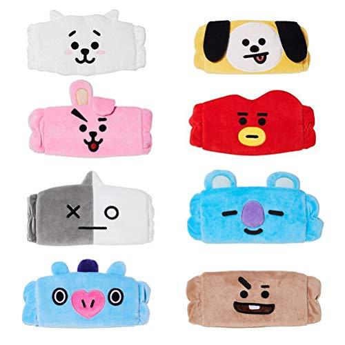 Lispeed Cute BTS Makeup Hair Wrap Headbands Styling Head Band for Girls Christmas New Year Gift, Peluche, 8 pezzi, 23 * 8.5 * 5cm