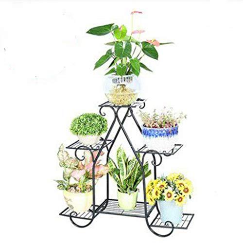 Jardin Support De Fleur Simple en Fer Forgé À Plancher Multicouche sur Pied en Plein Air Fleur Rack