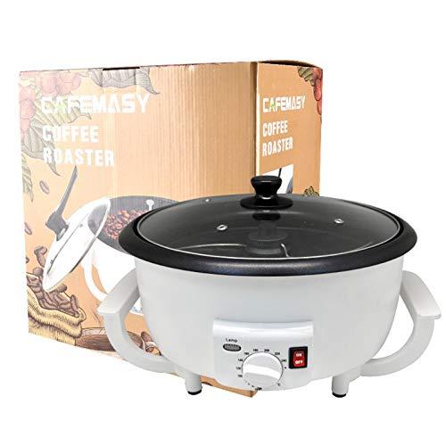 Syan Elektrischer Kaffeeröster mit hoher Kapazität und Antihaftbeschichtung, 1200 W Multifunktions-Nussröstmaschine, zum Rösten von Kaffeebohnen, Pekannüssen