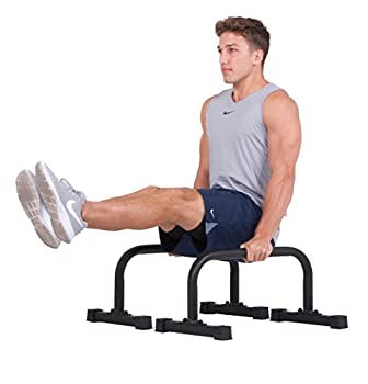 body power New Push up Stand Parallettes 12x24 inch Non-Slip with Integrated Knurling Grip - Supports Strength HIIT Yoga ROM Gymnastics Conditioning Exercise Workouts