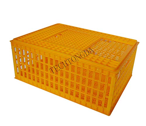 Poultry Chicken Duck Goose Transport Coop Crate Cage Box Folding (#170599)