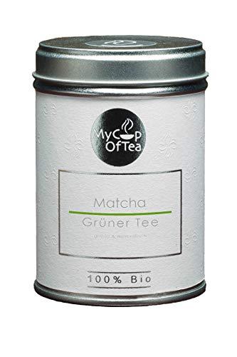 Matcha Bio-Tee 80g - Matcha-Pulver in Bio-Qualität aus Korea - Hochwertiges Grüntee-Pulver aus ökologischem Anbau - Für Genießer und Tee-Kenner - Als Tee oder in Smoothies - MyCupOfTea