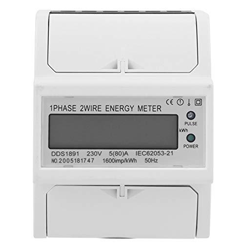 Contador de energía 2P DDS189 de alta precisión 230 V para la medición del rendimiento