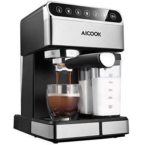 Aicook- Cafetera superautomática, 15 bares...