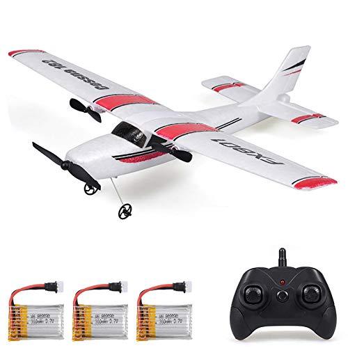Goolsky FX801 Flugzeug Cessna 182 2,4 GHz 2CH RC Flugzeug Flugzeug Outdoor Flugspielzeug für Kinder Jungen mit 3 Batterien