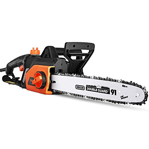 TACKLIFE Electric Chainsaw, 18-Inch Corded, Powerful 15-Amp Copper Motor, Chain Speed 13m/s, Lightwe - http://coolthings.us