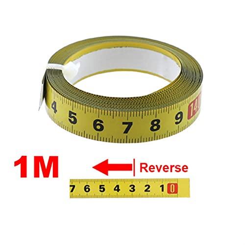 Cinta métrica claramente marcada y fácil de usar. Cinta métrica de la cinta métrica de la cinta métrica de la paleta de acero 0.5 '' Cinta de la regla de escala autoadhesiva 1-5M para la tabla del enr