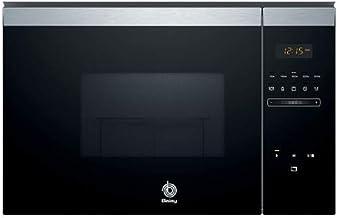 Balay, 3CG4175X0 Microondas integrable, 382 x 594 x 388 mm, 900 W,Negro Acero inoxidable, Control Deslizante, 25 litros de capacidad