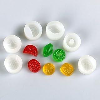 6pcs 3D Fruit Candy Silicone Mold - Sweet Fruit Mold Jewelry Cake Decoration, Fondant,