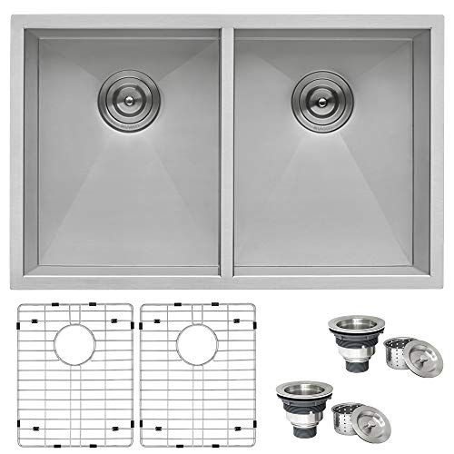 16 Gauge Stainless Steel Double Bowl Kitchen Sink