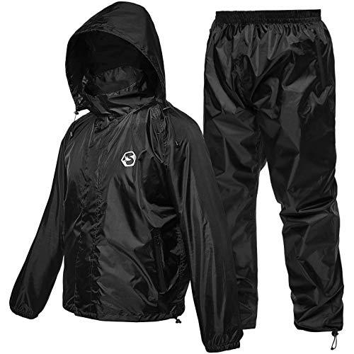 Foxelli Rain Suit – Waterproof Rain Gear for Men & Women, Lightweight Rain Suits for Fishing, Golf, Motorcycle