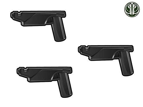 3X Westar-35 Blaster Pistole - Custom Waffen für Lego Star Wars Figuren -schwarz-
