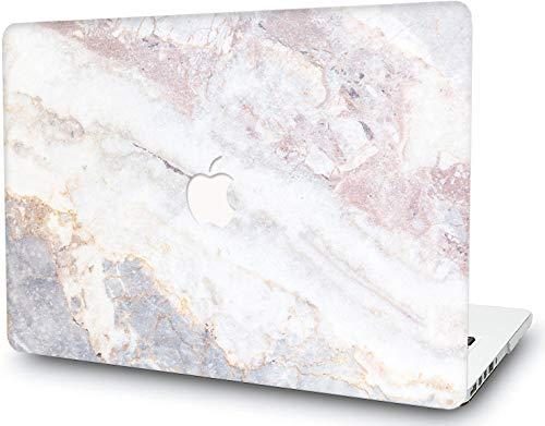 RQTX Estuche de plástico Duro para MacBook, Cubierta de Laptop con Superficie Lisa Mate, Cubierta de diseño de Cerebro de mármol para MacBook Air de 11 Pulgadas A1465 A1370 Concha de mármol de Roca