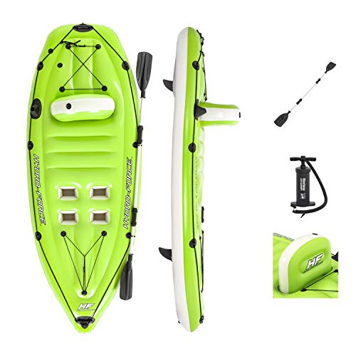 Hydro-Force 8'10' x 39'/2.70m x 1.00m Koracle Fishing Boat Kayak Hinchable, Unisex niños, Verde