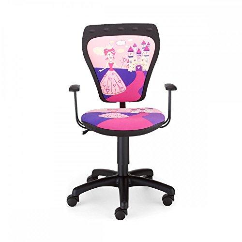 NOWY STYL Schreibtischstuhl Kinder Zimmer Mädchen Prinzessin Drehstuhl Ministyle Princess mit Armlehnen