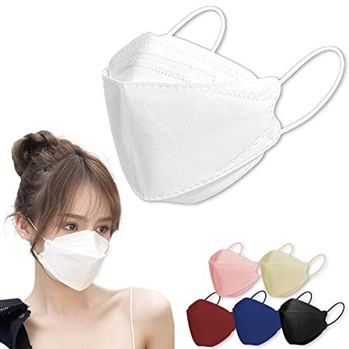 kf94マスク 同規格 正規品 個包装 3D立体 不織布 4層構造 使い捨て 小顔 メガネが曇りにくい 呼吸しやすい 口紅に付かない (ホワイト30枚)