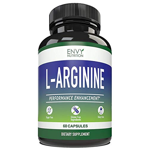 L- ARGININE - Performance Enhancement Supplements for Muscle Growth, Vascularity, Endurance and Heart Health - 60 Capsules.