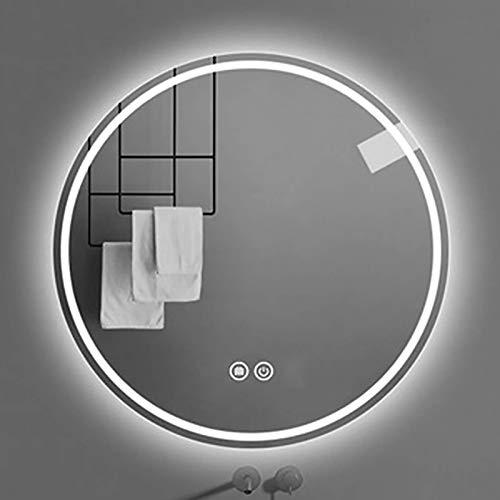 Espejo De Baño Led Redondo Iluminado, Baño Moderno, Maquillaje Inteligente, Espejo De Tocador, Interruptor Táctil, Interruptor Ip44