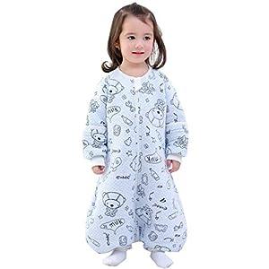 Happy Cherry – Saco de dormir para bebé de manga larga para niño, de algodón, pijama para niño