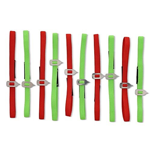 Juvale Elastic Bookmark 10 Pack - Planner Elastic Band Strap - 14 inches