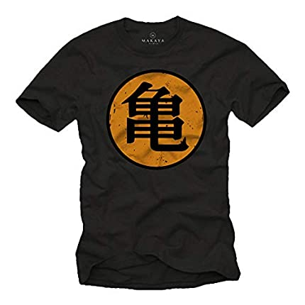 MAKAYA Camiseta Roshi's Gym - Kame - Dragon Negro S