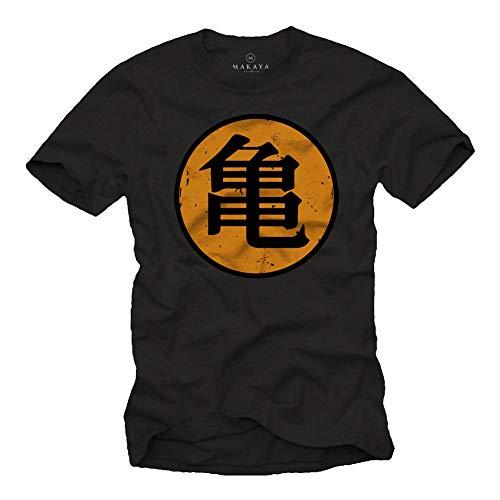 MAKAYA Camiseta Roshi's Gym - Kame - Dragon Negro M
