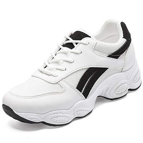 Zapatillas de Running para Mujer Zapatillas de Deporte Transpirables con Cordones Zapatillas Bajas de Malla para Mujer