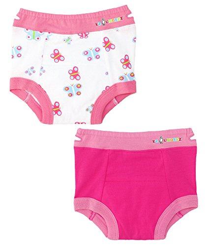 Ez Undeez Baby Mädchen, Kleinkind Trainingshose mit gepolsterten Liner (3 Jahre, Butterfly-pink)